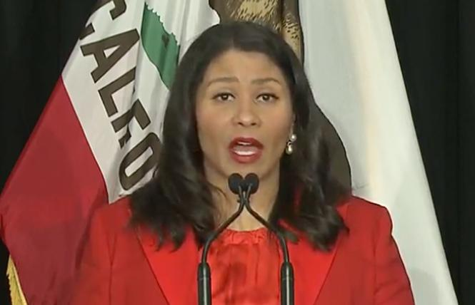 Mayor London Breed. Photo: Screengrab