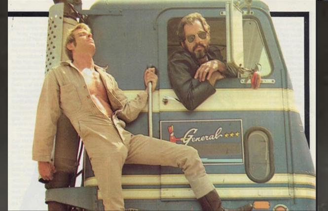 Jack Wrangler and Richard Locke in 'Kansas City Trucking Co.'