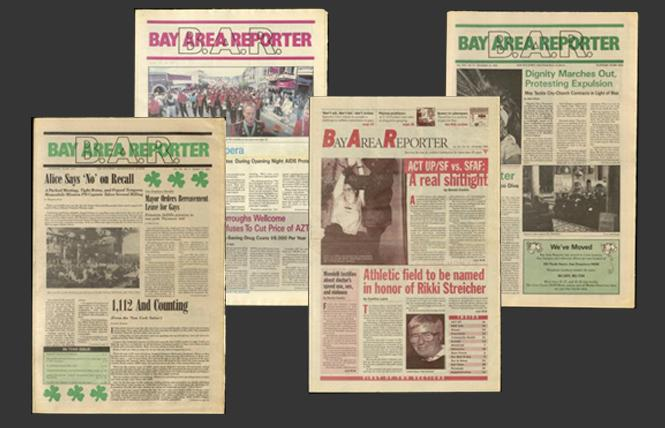 B.A.R. covers featuring HIV/AIDS articles.
