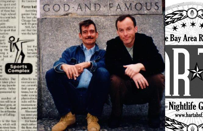 Mike Salinas and Jim Provenzano in New York City, 2001