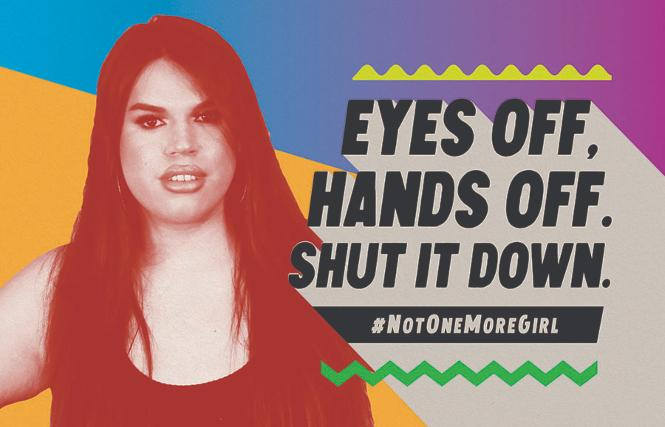 Rexy Tapia is one of the models featured in BART's new campaign against gender-based violence. Photo: Courtesy BART