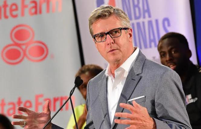 Golden State Warriors President and COO Rick Welts will leave the positions at the end of this season, staying on with the team as an adviser. Photo: NBAE/Getty Images