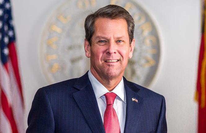 Georgia Governor Brian Kemp signed the state's new law that suppresses voting. Photo: Courtesy Governor's office
