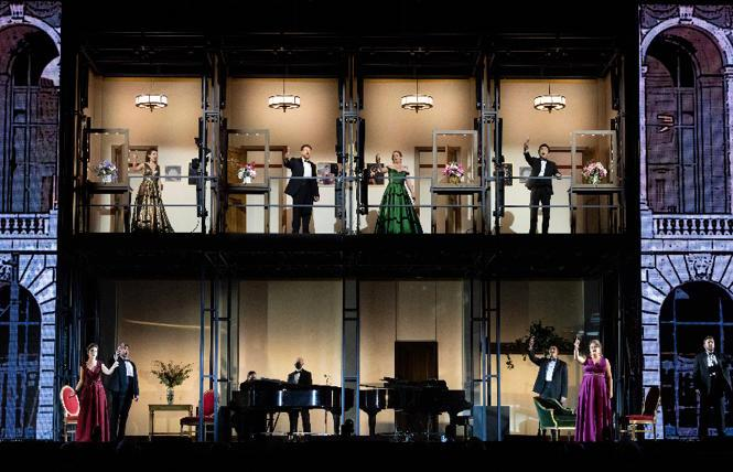 San Francisco Opera's innovatively-staged 'The Adlers: Live at the Drive In' concert at the Marin Center.