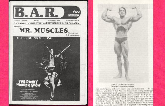 'The Rocky Horror Show' and Arnold Schwarzenegger in the March 18, 1976 B.A.R.