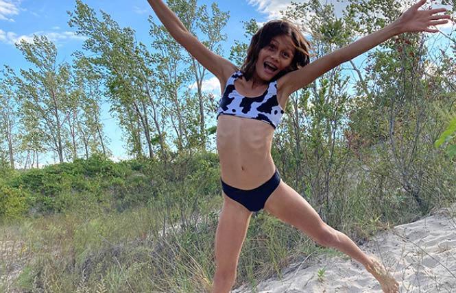 Ruby Alexander enjoys her RUBIES swimwear. Photo: Courtesy RUBIES