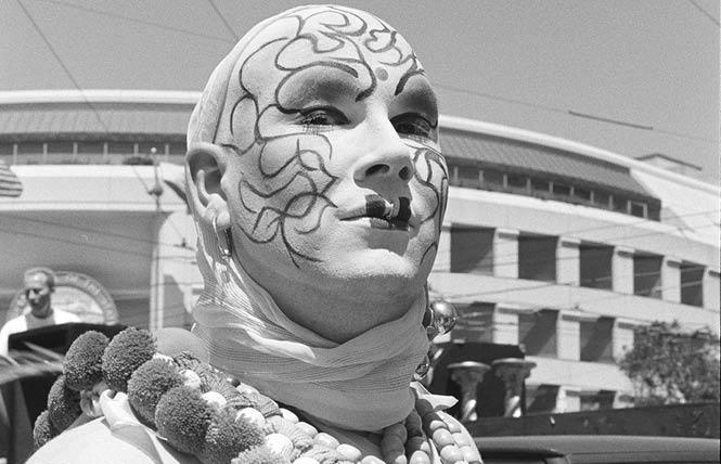 Phatima Rude of the Sisters of Perpetual Indulgence at the San Francisco LGBT Pride parade, June 27, 1993. Photo: Daniel Nicoletta