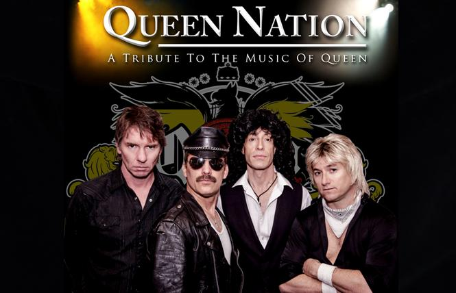 Queen Nation, a Queen tribute band, will headline Family Pride Day June 6 at the San Mateo County Fair. Photo: Courtesy queennation.com