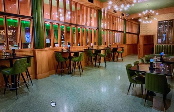 The lounge at Moe Green's dispensary in San Francisco has reopened, but proof of COVID vaccination is required. Photo: Courtesy Moe Green's