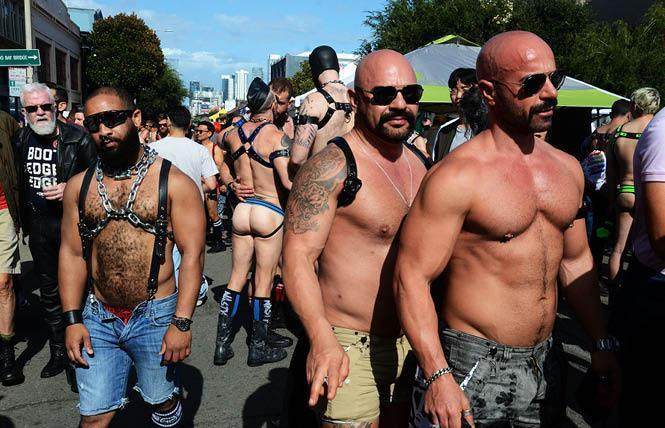 The weather was warm, and attire was minimal, at the 2019 Folsom Street Fair. Photo: Rick Gerharter