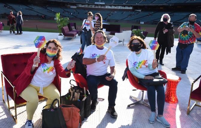 VIP viewing at Oracle Park