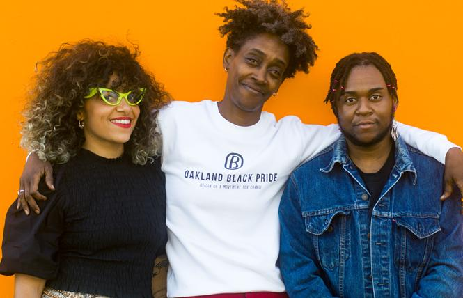 Oakland Black Pride organizers James Cox, left, Olaywa Austin, and Avery Hines are planning for lots of activities next weekend. Photo: Pam Torno