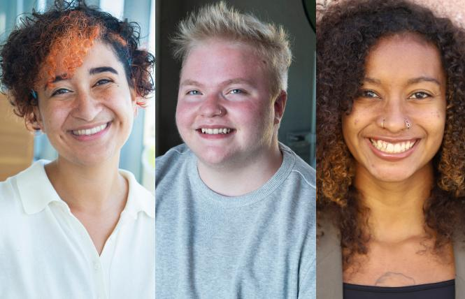 Exploratorium STARS interns, from left, include Lavender de Julia, Felix Duley, and Kayla Walker, learned a lot during their time with the museum. Photos: Courtesy Exploratorium