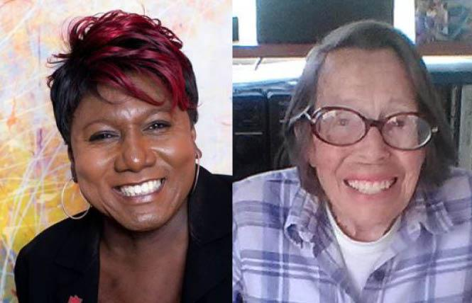 Monica Roberts, left, and Phyllis Lyon are two of the honorees on the Wall of Honor at the Stonewall Inn in New York City. A total of 10 people will be inducted June 24, five for 2020 and five for 2021. Photos: Roberts, courtesy Twitter; Lyon, Joyce Newstadt