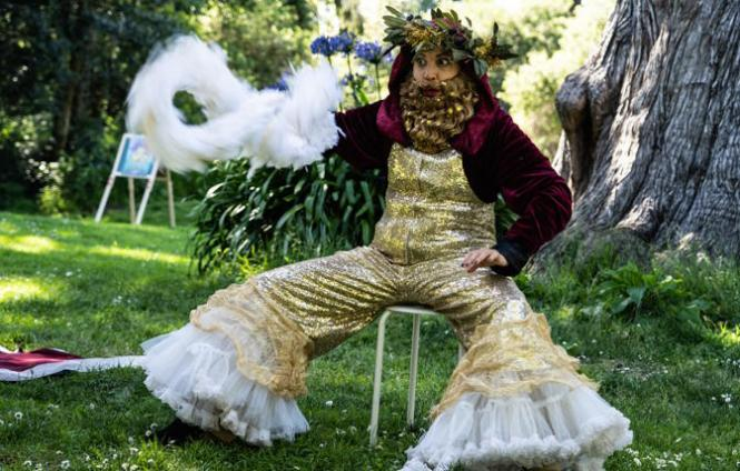 Tina D'Elia as Hibiscus in Golden Gate Park in 'Out of Site: Haight-Ashbury'