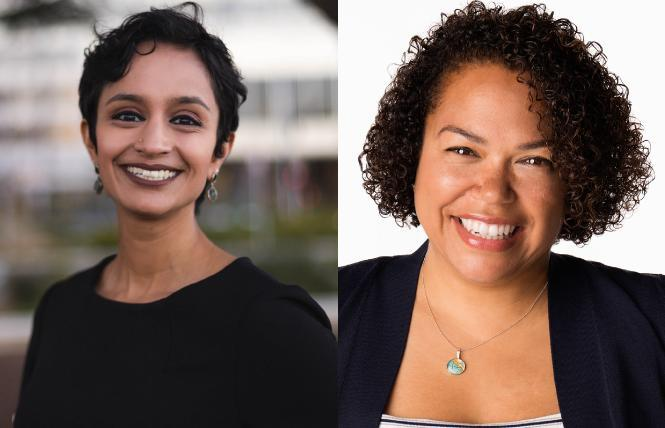 Janani Ramachandran, left, and Mia Bonta are two of eight candidates vying for the 18th Assembly District race. Photos: Courtesy the candidates