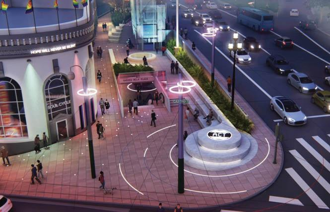 The Friends of Harvey Milk Plaza unveiled the preliminary design for Harvey Milk Plaza during virtual presentations June 23 and 24. Photo: Courtesy Screengrab