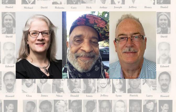 Liz Highleyman, Guy Clark, and Tom Burtch