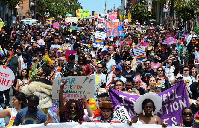 Nearly 500 participants marched in the People's March in San Francisco June 27 to remember the 1969 Stonewall riots. Photo: Rick Gerharter