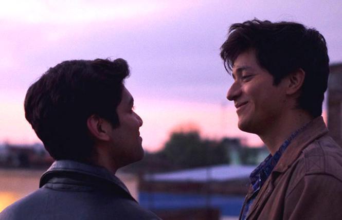 Gerardo (Christian Vazquez) and Ivan (Armando Espitia) in 'I Carry You With Me' (Te Llevo Conmigo)