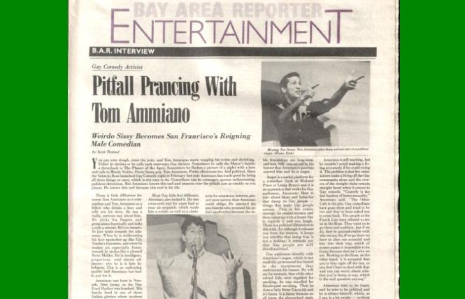 Tom Ammiano in a June 1983 issue of the B.A.R.