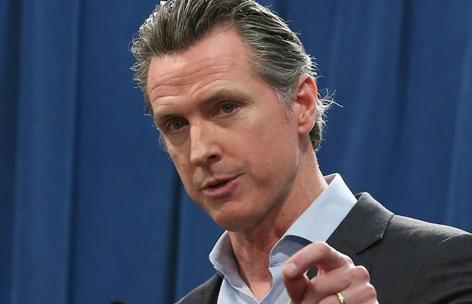 The first LGBTQ rights bill to pass the Legislature this year has been sent to Governor Gavin Newsom's desk. Photo: Courtesy AP