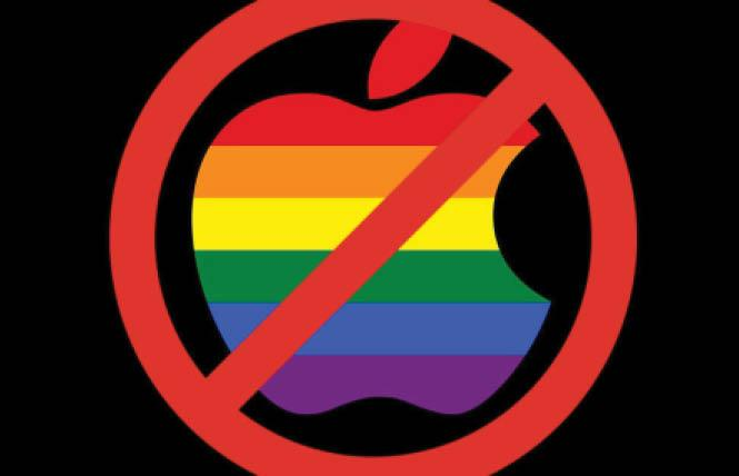 A new report raises questions about why some queer apps are not found on Apple's App Stores in countries outside the U.S. Photo: Courtesy Fight for the Future