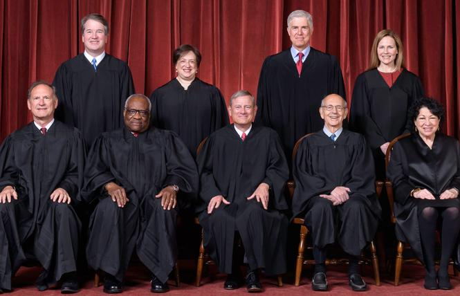 The U.S. Supreme Court tilted to the right during its just-concluded term, but there were no major losses for the LGBTQ community. Photo: Courtesy Supreme Court