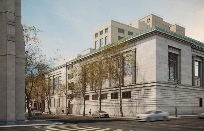 A rendering of the New-York Historical Society's expansion project, as seen from Central Park West, will include the American LGBTQ Museum. Photo: Courtesy Alden Studios for Robert A.M. Stern Architects via NBC News