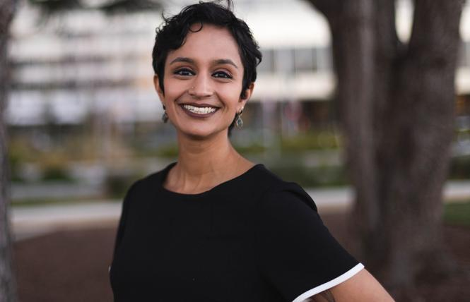 East Bay Assembly candidate Janani Ramachandran has secured endorsements from the LGBTQ Victory Fund and the California Legislative LGBTQ Caucus ahead of the August 31 runoff race to represent Alameda, San Leandro, and part of Oakland. Photo: Courtesy Janani Ramachandran