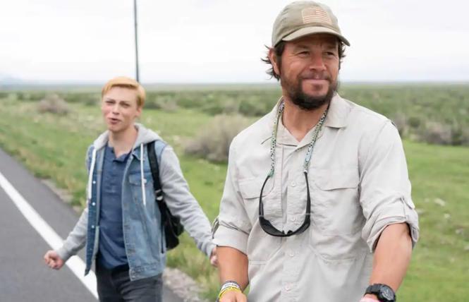 Reid Miller and Mark Wahlberg in 'Joe Bell'
