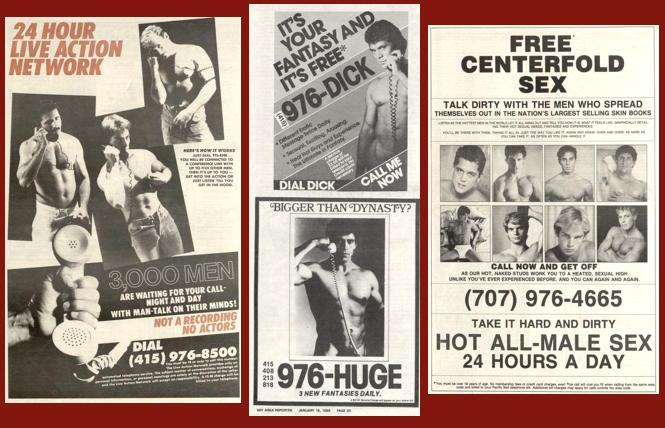 976 numbers filled ad pages of gay media in the 1980s.