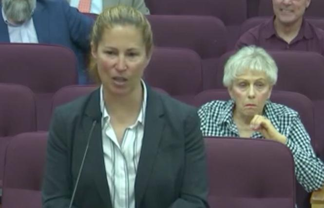 Teresa Ewins, who was approved by the Lincoln City Council to be its new police chief, addressed the council July 19. Photo: Screengrab
