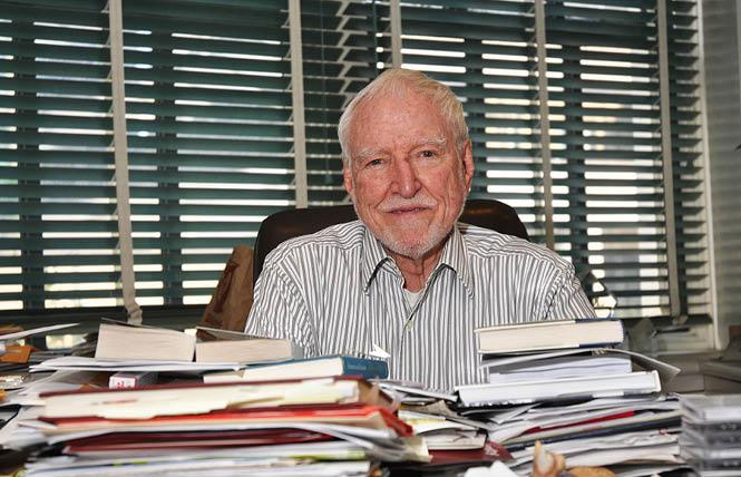 Former ambassador James C. Hormel sits at his desk in this 2011 photo. Photo: Rick Gerharter