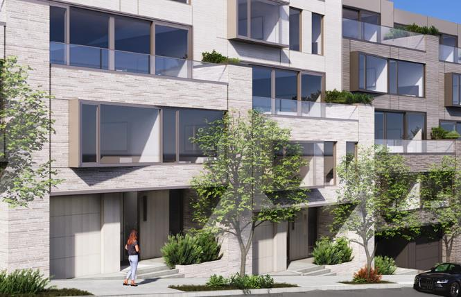 A rendering of the proposed housing project at 1900 Diamond Street in San Francisco shows new housing. Photo: Courtesy SF Planning