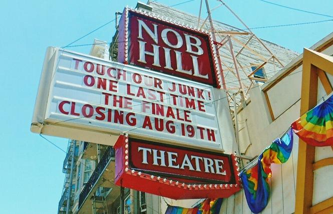 The Nob Hill Theatre marquee with its famous signage just before it closed in 2018 Photo: Cornelius Washington