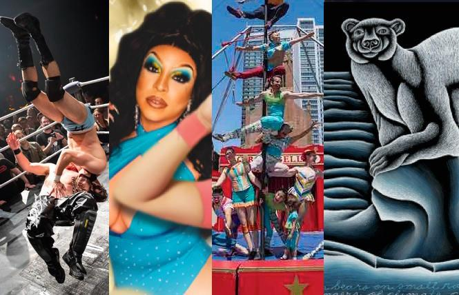 Hoodslam @ DNA Lounge; Drag Brunch @ Port Bar; Circus Bella @ regional parks; 'Judy Chicago' @ de Young Museum