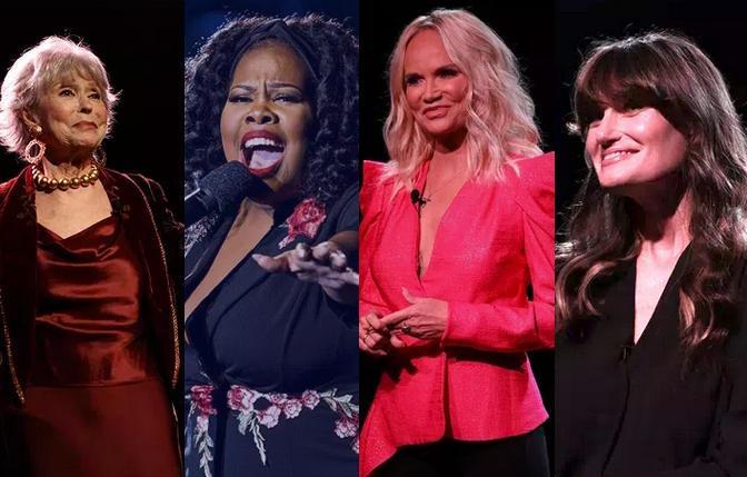Rita Moreno, Amber Riley, Kristin Chenoweth and Idina Menzel in 'Wicked in Concert'