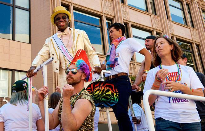 Oakland Symphony Music Director Michael Morgan, left, was a grand marshal in the 2017 Oakland Pride parade. Photo: Jane Philomen Cleland