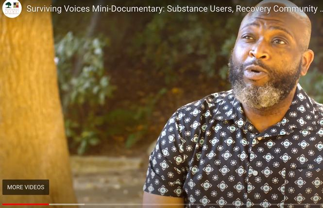 """Pastor Ernest Larkins is one of the participants in """"Substance Users, the Recovery Community, and AIDS."""" Photo: Screengrab via AIDS grove"""