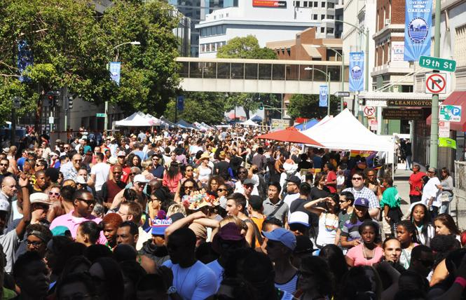 Crowds filled the streets during the 2012 Oakland Pride festival. Photo: Rick Gerharter