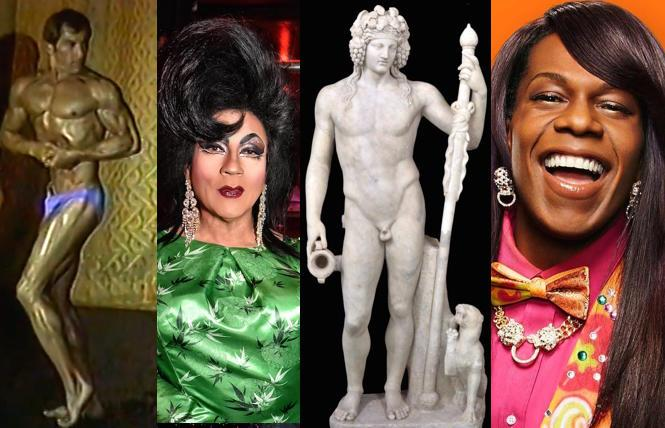 Gay Games videos with GLBT History Museum; Juanita MORE's birthday party @ Powerhouse; 'Last Supper in Pompeii' @ Legion of Honor; Big Freedia @ UC Theatre