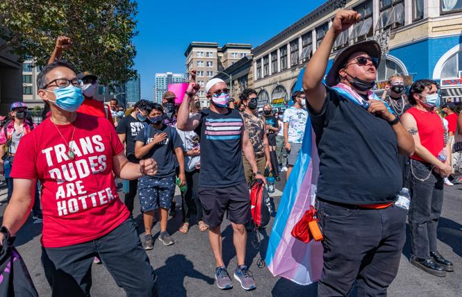 People participated in the second Oakland Trans March September 4. Photo: Jane Philomen Cleland