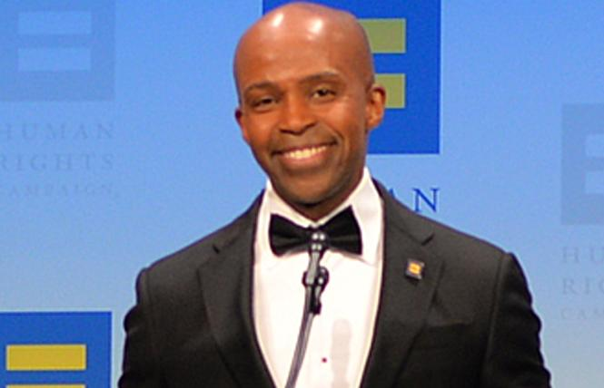 """Alphonso David led the Human Rights Campaign for two years before he was terminated """"for cause"""" September 6. Photo: Michael Key/Washington Blade"""