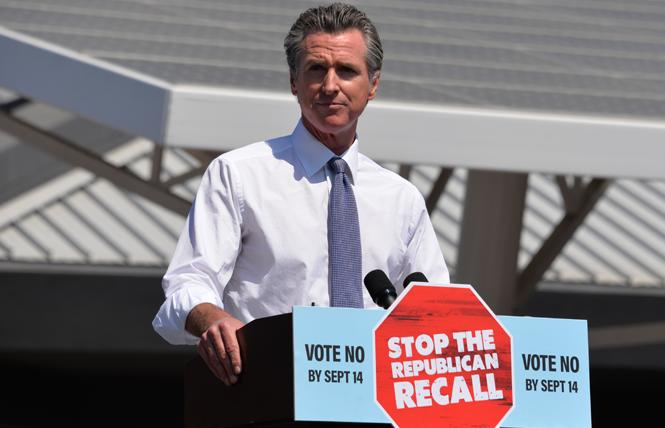 Governor Gavin Newsom handily beat back a GOP-led recall effort, based on unofficial returns. Photo: Bill Wilson