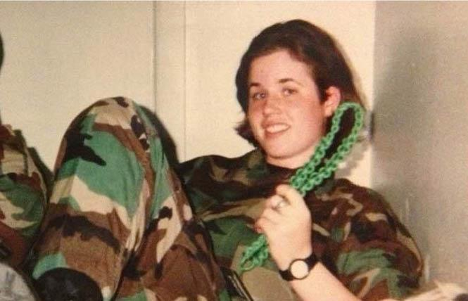 Lauren Hough, then 20, relaxes in this photo in U.S. Air Force tech school, Mississippi, 1997. Photo: Courtesy Lauren Hough