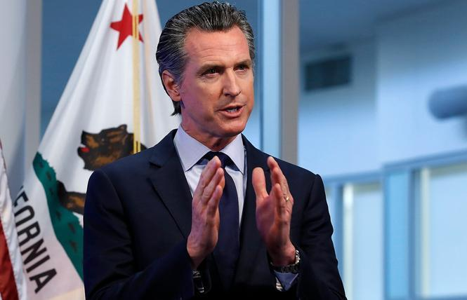 Governor Gavin Newsom has signed legislation making California the first state in the country to collect violent death data within its LGBTQ community. Photo: AP