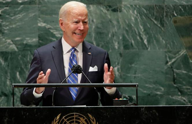 President Joe Biden addressed the United Nations General Assembly during its 76th session at the U.N. headquarters in New York City September 21. Photo: Eduardo Munoz/Pool Photo via AP
