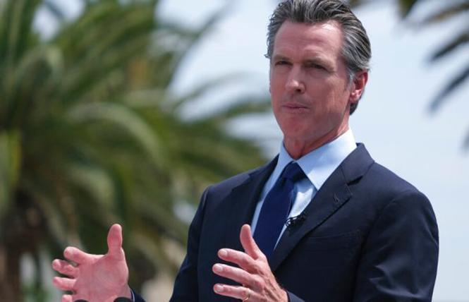 Governor Gavin Newsom vetoed a law that would have allowed for contingency management, including cash benefits, as a way to treat substance use disorder. Photo: Courtesy AP
