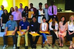 Scholarship recipients at Heart of Gold fundraiser.